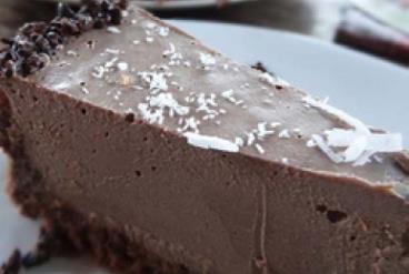 Chocolate Zucchini Cheesecake